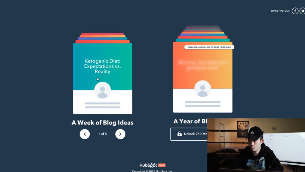 hubspot blog idea generator - 블로그 주제 정하기